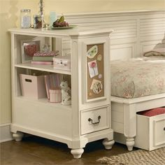 Antique White Bookcase Nightstand $525.00 or DIY Inspiration