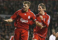Captain Steven Gerrard and the once great Fernando Torres #Liverpool #YNWA