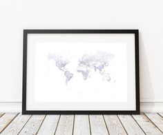 World Map Art Rivers Poster - Choose from unique and rare map posters - we love maps like you. Cool World Map, World Map Art, World Map Poster, Map Posters, Paint Splash, Beautiful World, National Parks, Typography, Frame