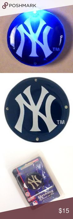 NWT New York Yankees Flashing Pendant or Pin Take me out to the ballgame with this awesome New York Yankees flashing pendant pin. Flashes in a circular motion as if it were a curve ball. Batter Up! This awesome baseball blinky is essential for the big game or tailgate parties. Jewelry