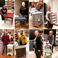 Another successful Furniture 101 class with a great group! Thank you Tara, Kathy, Danette, Nancy, Mark, Kathy, Laura and Donna! #workshops #furniturepainting #bringyourownfurniture #anniesloandecorativechalkpaint® #mmsmilkpaint #paintcoutureglazes #generalfinishes  (at Signature Finishes)