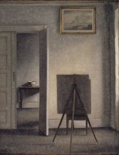 hammershoi - Interior with the Artist's Easel