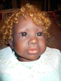 PAULINE MIDDLETON ABORIGINAL PORCELAIN ARTIST DOLL BABY MEG; 2 OUTFITS  #PAULINEMIDDLETON
