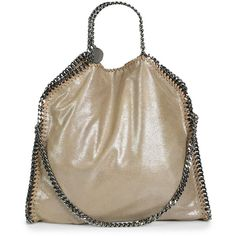 Stella McCartney Falabella Small Fold-Over Tote ($1,215) ❤ liked on Polyvore featuring bags, handbags, tote bags, apparel & accessories, redwood, stella mccartney tote, brown tote, foldover tote, foldable tote and brown tote bag