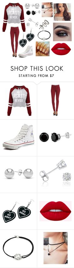 """""""Untitled #387"""" by ljgrey ❤ liked on Polyvore featuring WithChic, 7 For All Mankind, Converse, Jewelonfire, Amanda Rose Collection, Witch Worldwide, Alex and Ani and Miss Selfridge"""