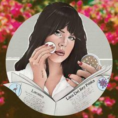 Lana Del Rey #LDR #art by Matthew Kampa