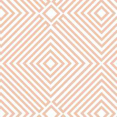 CLEARANCE, Lizzy House, 1001 Peeps, Illusion in Jinnee Orange, 1 yard. $5.75, via Etsy.