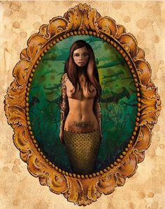 nautical tattooed mermaid