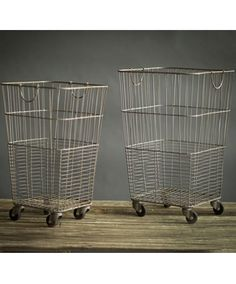 these retro rolling laundry carts will aid you in navigating your domestic duties