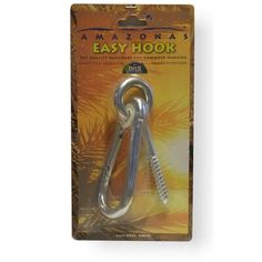 The Holiday Aisle Top quality hardware for hammock hanging. The rugged welded eye allow for easy hanging and removal, and provide a strong support for hammocks. The easy hook is perfect for porches, trees, and decks!