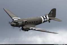 Douglas C-47A Skytrain (DC-3) In D-Day Invasoin Stripes