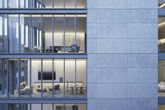 Tadao Ando Designs Luxury Residential Building in New York, Rendering of 152 Elizabeth Street, developed by Sumaida + Khurana. Image © Tadao Ando via Tadao Ando, Concrete Architecture, Residential Architecture, Interior Architecture, Futuristic Architecture, Ancient Architecture, Sustainable Architecture, Contemporary Architecture, Landscape Architecture