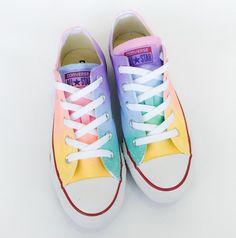 Arco iris pastel Tie Dye bajo superior Converse