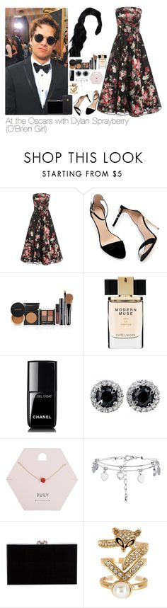"""""""At the Oscars with Dylan Sprayberry"""" by myllenna-malik ❤ liked on Polyvore featuring Alexander McQueen, Zara, Estée Lauder, Chanel, Miss Selfridge, New Look, Charlotte Olympia, Spring Street, TeenWolf and DylanSprayberry"""