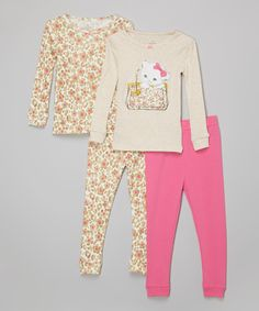 Take a look at this Candlesticks Light Brown Daisies Pajama Set - Toddler today!