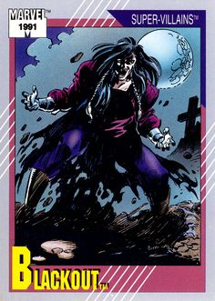 Trading cards from comic books, including Marvel, DC Comics, Image and more. Nightcrawler Marvel, Iceman Marvel, Punisher Marvel, Marvel Comic Books, Comic Movies, Comic Books Art, Comic Art, Phoenix Marvel, Mister Fantastic