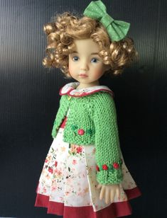 """Outfit for little darling Effner Doll 13"""" 3pc. Doll and shoes are not include. You will have an item as same as last picture. 