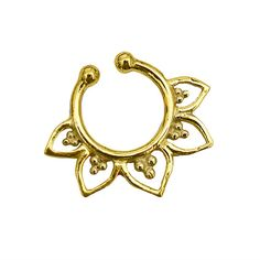 Fake Septum Ring. gold septum ring. indian by Umanativedesign