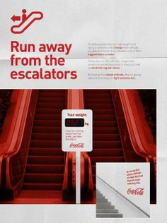 Run away from the escalators. Coca Cola.