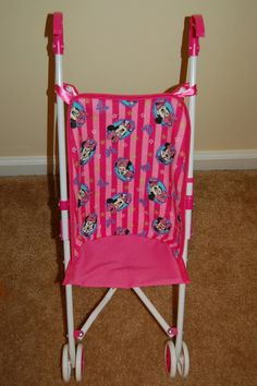 Minnie Mouse Doll Stroller Seat on Etsy, $9.99