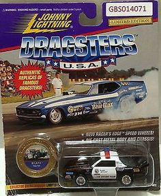 (TAS031549) - Playing Mantis Johnny Lightning Dragsters USA Car - '92 L.A.P.D.