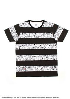 8a09e1c453 Where's Wally Short Sleeve(Black and White Wally) – Design Tshirts Store  graniph Wheres