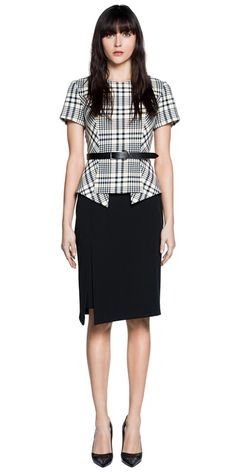 CUE - Plaid Peplum Top. RRP $249.