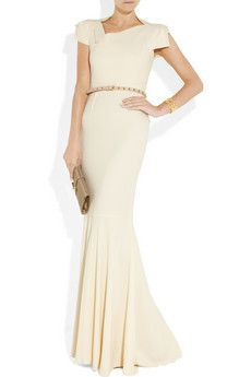 Roland Mouret  Jarndyce crepe fishtail gown $3425