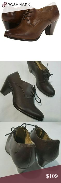 Frye Phoebe Oxford Dark Brown Shoes Women's Size 7 Frye Phoebe Oxford Dark Brown Shoes Women's Size 7M $248 NWOB -- New.  2.5 inch heels.   LB Frye Shoes Ankle Boots & Booties