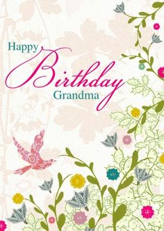 Grandma Birthday Flowers | Personalised Birthday Card Discount code to get 10% off --> SCRTZZGL Birthday Card Design, Birthday Cards, Greeting Card Shops, Grandma Birthday, Flowers, Grandmother Birthday, Anniversary Cards, Bday Cards, Floral