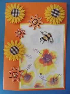 A Pretty Talent Blog: Cardmaking: Watercolours - Yellow Peonies Yellow Peonies, Orange Line, Paint Markers, White Paints, Watercolours, Watercolor Paper, Cardmaking, Arts And Crafts, Crafty
