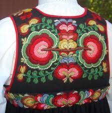 National Costume (bunad) from Hallingdal in Buskerud County, Norway