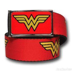 Images of Wonder Woman Symbols Red Adult Web Belt