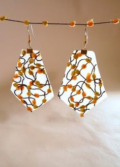 diy earrings - aren't they cute? tutorial by Michelle L. in L.A. - thanks!