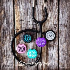 MONOGRAM INITIALS,NURSE,PARAMEDIC,MEDICAL,RN,ER,LPN, ID STETHOSCOPE NAME TAG