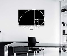 Golden Ratio Wall Decal design Mural interior design Math Science Education Golden proportion Aristotle quote office smart school by StateOfTheWall on Etsy https://www.etsy.com/listing/229015423/golden-ratio-wall-decal-design-mural
