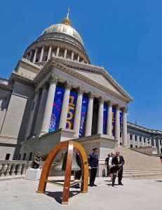 """I'm honored the Postal Service has partnered with us to commemorate the celebration of our state's sesquicentennial,"" said West Virginia Gov. Earl Ray Tomblin."