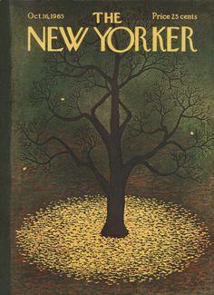 Charles E. Martin : Cover art for The New Yorker 2122 - 16 October 1965