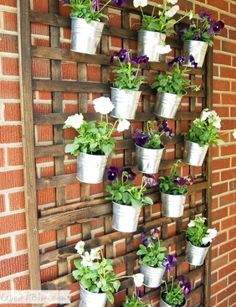 Love this neat wall planters idea