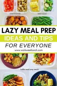 Here are some lazy meal prep tips for meal prep for beginners. Even lazy people can meal prep! These easy shortcuts make meal prep for the week a breeze even for the laziest person. College Meal Planning, Easy College Meals, Easy Meals, Work Meals, Best Meal Prep, Lunch Meal Prep, Meal Prep For The Week, Tips For Meal Prepping, Healthy Eating Meal Plan