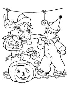 Kids Halloween Coloring Pages And Printables