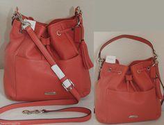 COACH #27003 Sienna AVERY Leather Drawstring Hobo Handbag Purse NEW Org. $358 #Coach #Hobo