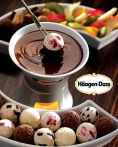 Ice cream fondue. YUM.
