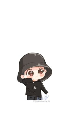 Jungkook Fanart, Jungkook Cute, Bts Chibi, Anime Chibi, Bts Drawings, Cartoon Drawings, Cartoon Wallpaper, Bts Wallpaper, Cute Baby Cats