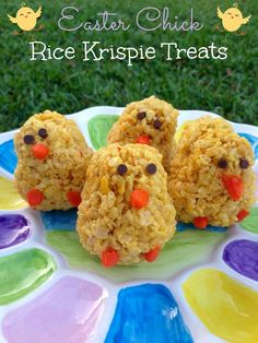 Easter Chick Rice Krispie Treats - These Rice Krispies treats are perfect for your Easter celebrations!