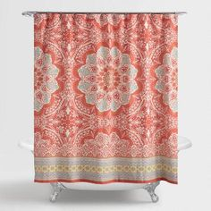 Printed with our exclusive paisley design in deep, vibrant hues, our Alessia Shower Curtain brightens up bath time with a splash of color.