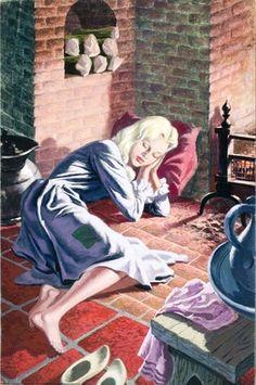 Cinderella -- Cinderella sleeping -- High quality art prints, framed prints, canvases -- Ladybird Prints