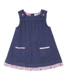 China Blue Floral Corduroy Jumper - Infant, Toddler & Girls