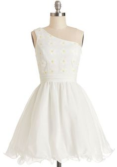 Daisies to Remember Dress. These days are ones youll cherish, so get all dolled up in this white party dress to ensure many memorable moments. #white #promNaN