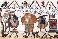 The Bayeux Tapestry, true 23rd scene, 1070 AD / Ковер из Байё, подлинная версия 23 сцены